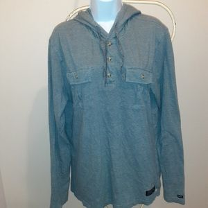 3 for $25- RVCA Casual Blue Grey Shirt Size Large
